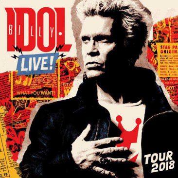 Billy Idol Announces Extensive UK, European Tour For 2018