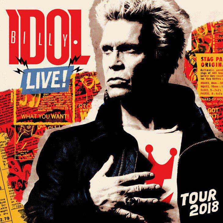 Billy Idol UK European Tour 2018