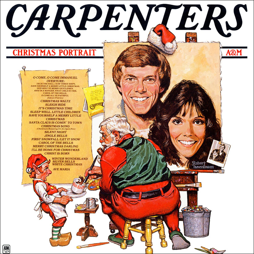 Carpenters Christmas Portrait album cover web optimised 1000 with border