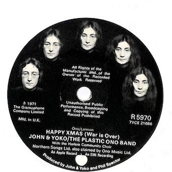 Happy Xmas John & Yoko disc