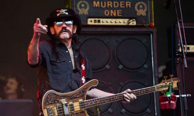 Lemmy photo by Samir Hussein and Redferns via Getty Images