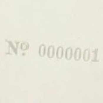 No. 0000001 White Album