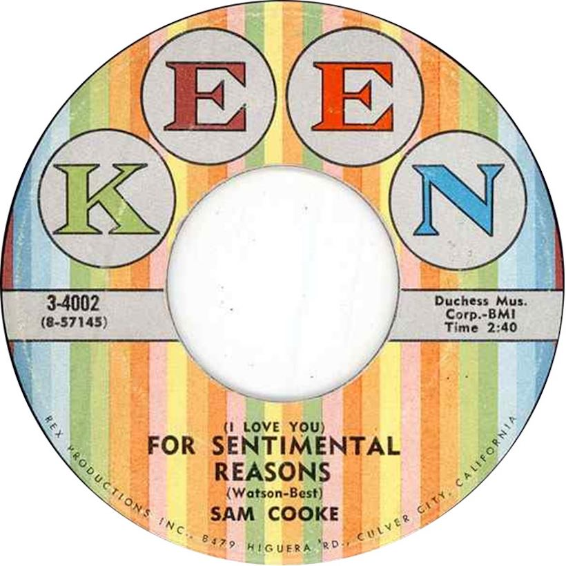 sam cooke for sentimental reasons