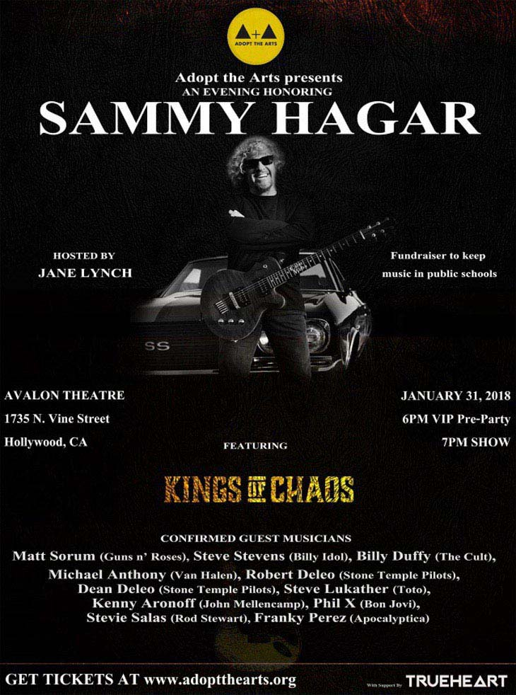 Sammy Hagar Honored