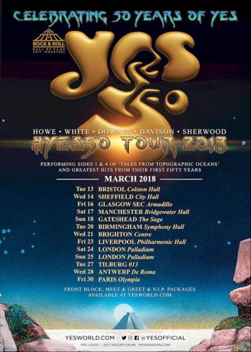 Yes To Attend U.K. Fan Day, Launch New Track During 50th Anniversary 2018 Tour