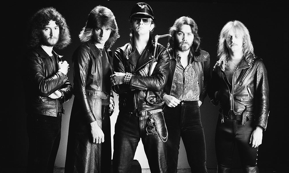 Judas Priest photo by Fin Costello and Redferns and Getty Images