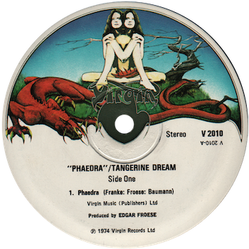 Phaedra Tangerine Dream label
