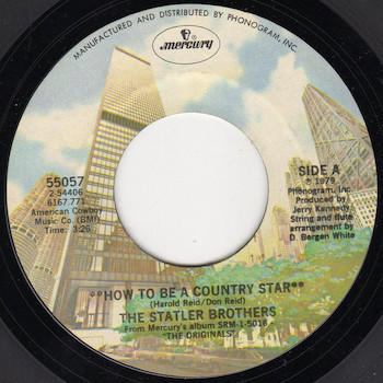 How To Be A Country Star Statler Brothers