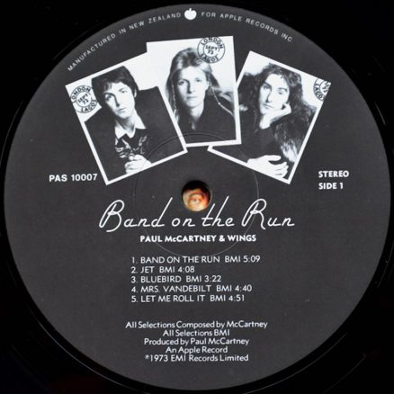 Band On The Run label