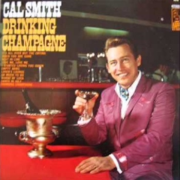 Cal Smith Drinking Champagne