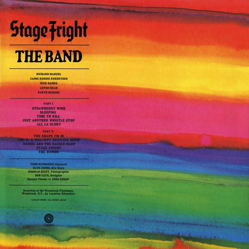 The Band Stage Fright Album Cover web optimised 820