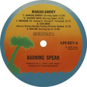 Burning Spear Marcus Garvey record label web optimised 350