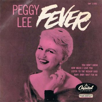 Peggy Lee Fever EP Sleeve