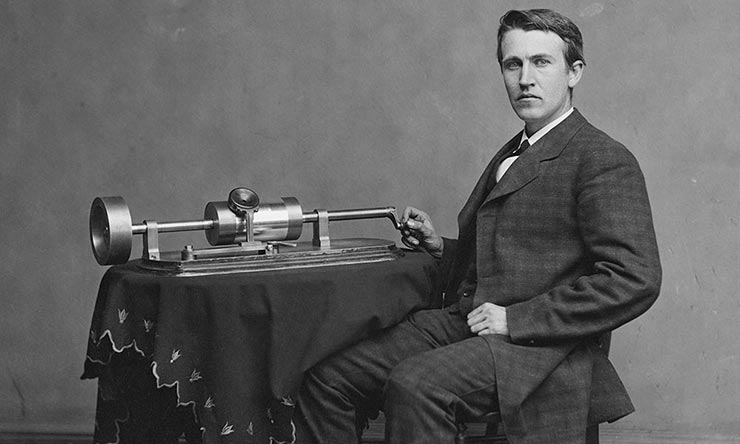 Thomas Edison With Phograph