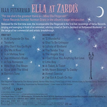 Ella At Zardi's back cover