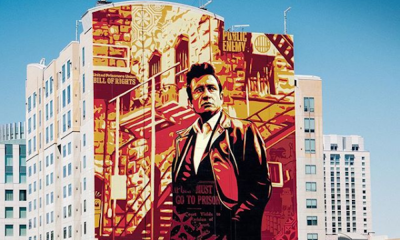 Shepard Fairey - Johnny Cash