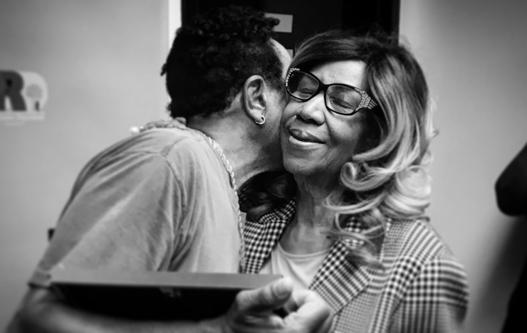 Smokey Robinson and Aretha Franklin