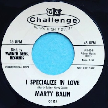 I Specialise In Love Marty Balin