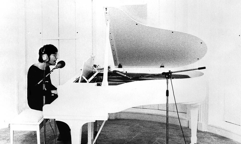 John Lennon, writer of Imagine, at the piano, photo by Peter Fordham COPYRIGHT Yoko Ono web optimised 1000