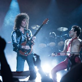 Gwilym Lee as Brian May Rami Malek as Freddie Mercury