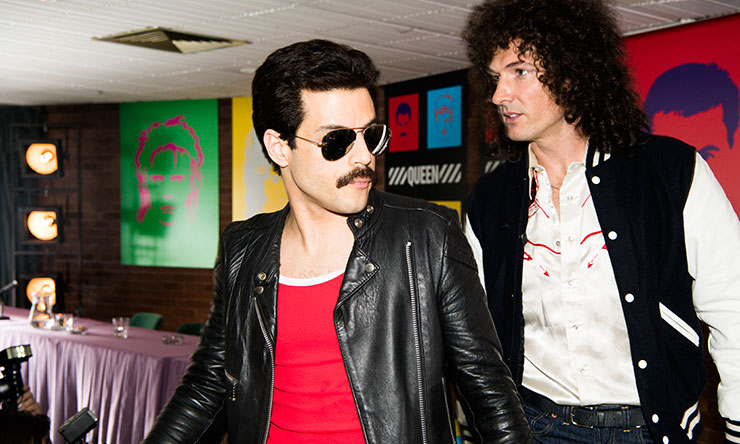 Gwilym Lee as Brian May Rami Malek as Freddie Mercury 02
