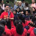 School Choir Performs John Lennon's 'Imagine' At Strawberry Fields, Central Park