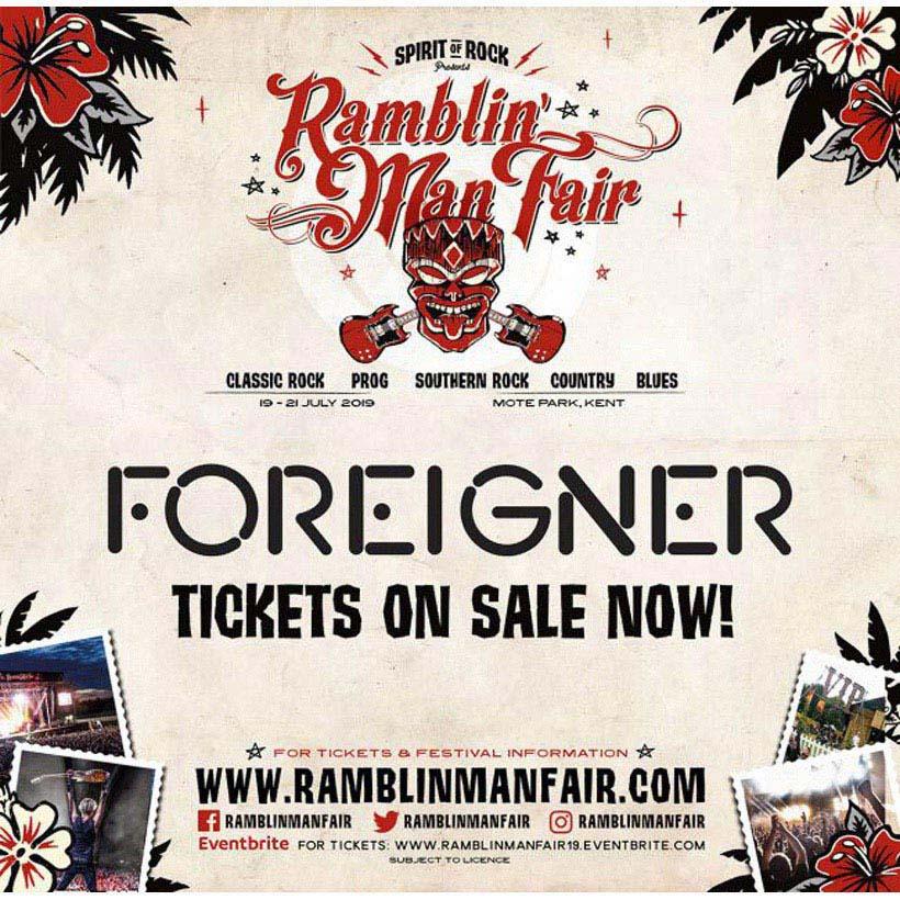 Foreigner Ramblin Man Fair 2019