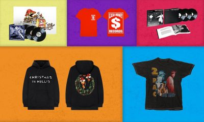 """Got cash money to burn? Expanded box sets, triple-vinyl reissues and the very finest in streetwear have got your hip-hop loving loved-one's name on them. You don't have to spend Christmas in Hollis to have a hip-hop holiday season this year – we've done that for you. Run-DMC: 'Christmas In Hollis' black hoodie Run-DMC's festive hit 'Christmas In Hollis' remains one of the most well-known holiday hip-hop tracks of all time. Released as a single in 1987, the seasonal lyrics refer to the district of Hollis, Queens, the area of New York where Run-DMC grew up. Add a bit of edge to your Christmas wardrobe with this perfectly merry hoodie, bearing the title on the front and a wreath design on the back. Buy it here. Cash Money Records chest logo T-shirt The Cash Money record label, founded in 1992 by brothers Bryan """"Baby"""" and Ronald """"Slim"""" Williams, has gone on to become one of the most revered record labels in hip-hop history, with artists like Drake and Nicki Minaj currently on their roster. This casual red T-shirt features the """"dollar sign"""" Cash Money logo, printed in white on the front and back. Buy it here. Post Malone: photo live long-sleeved T-shirt New York-born superstar Post Malone is the focus of this soulful long-sleeved T-shirt. The item has an atmospheric close-up of the pop-rapper's face on its chest, above the word """"live"""" printed in blue italic text. On the reverse, there is a small set of tour details, and the right sleeve bears Malone's initials in small circles. Buy it here. Tupac Shakur: 'Hail Mary' T-shirt Released posthumously, in 1997, 'Hail Mary' came to be regarded as one of Tupac Shakur's best tracks. This casual black T-shirt offers a vintage 90s design inspired by the song, with three images of the rapper on its front, alongside the name """"2PAC"""" and the title of the track. Buy it here. XXXTentacion: 'SAD!' T-shirt """"Who am I? Someone that's afraid to let go,"""" says XXXTentacion on 'SAD!', the hit single released just a few months before the rapper's"""