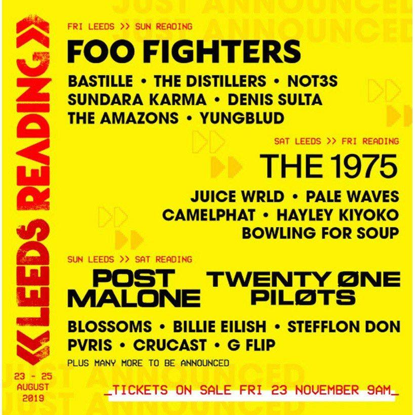 Foo Fighters 1975 Reading Leeds
