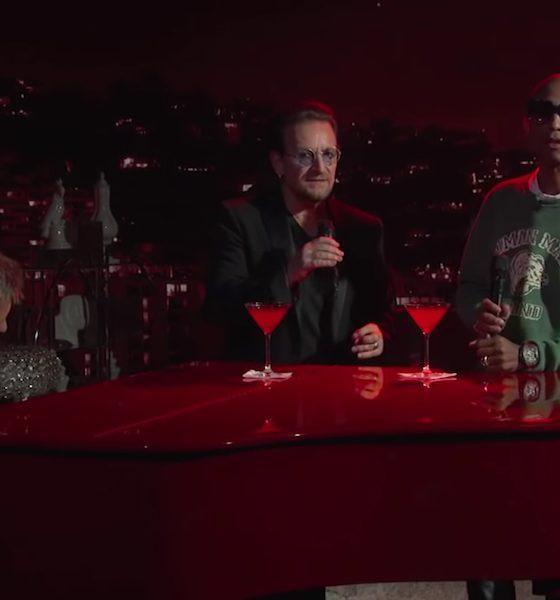 U2 Bono Pharell (RED) Jimmy-Kimmel Live