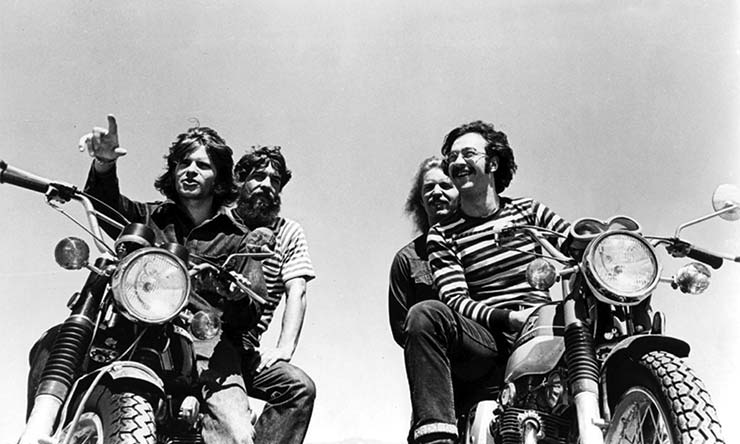 Creedence Clearwater Revival B&W on bikes web optimised 740