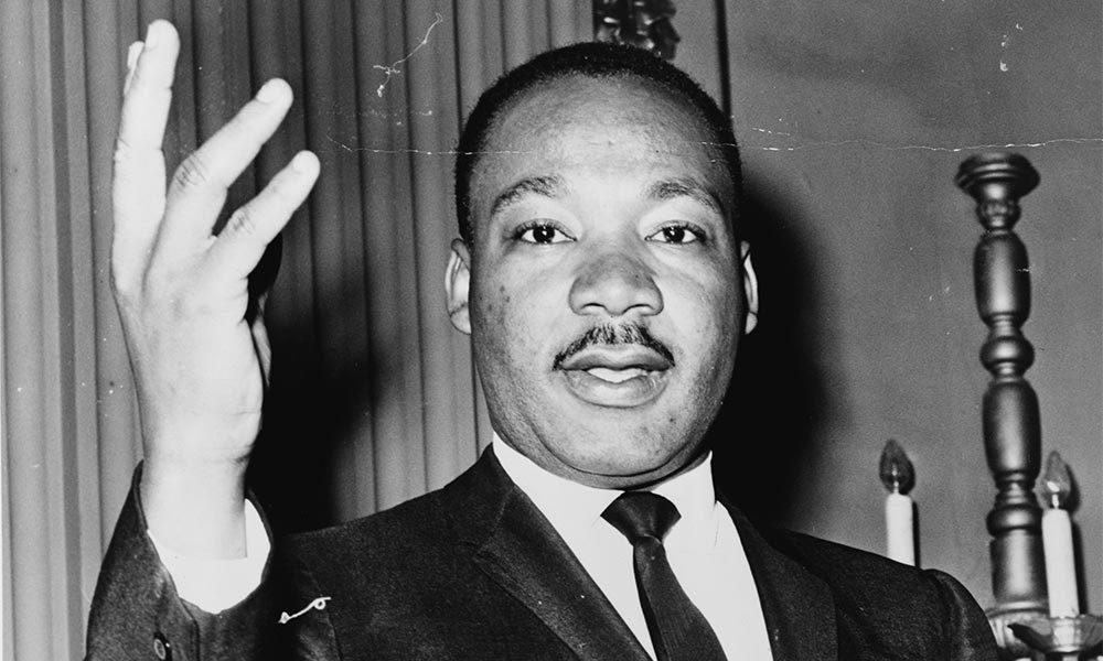 Dr Martin Luther King, Jr, half length portrait World Telegram & Sun photo by Dick DeMarsico