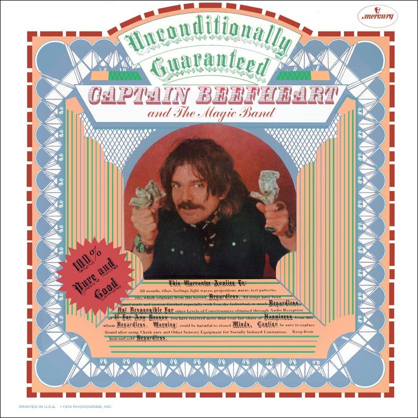 Captain Beefheart Unconditionally Guaranteed Album Cover web optimised 820 with border