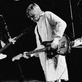 Kurt Cobain Iconic Hospital Gown Reading