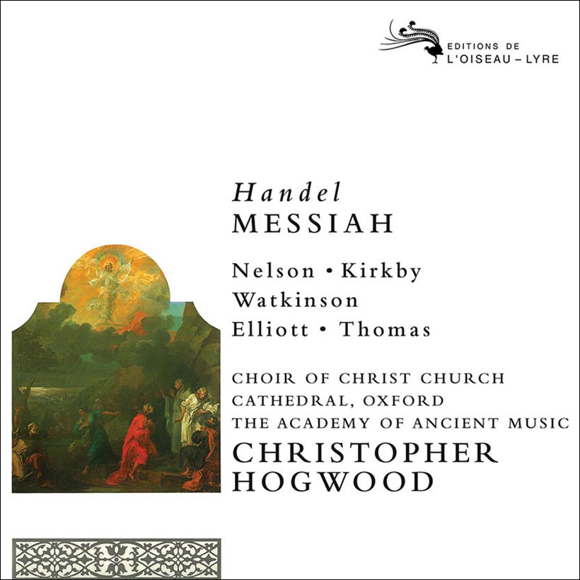 Handel Messiah Christopher Hogwood cover
