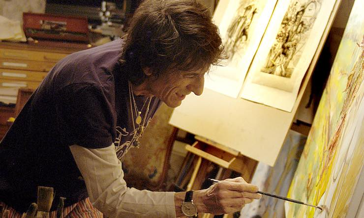 Ronnie Wood studio