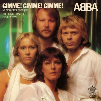 ABBA Gimme Gimme Gimme single cover
