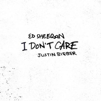 Justin Bieber Featuring Ed Sheeran I Don't Care single artwork
