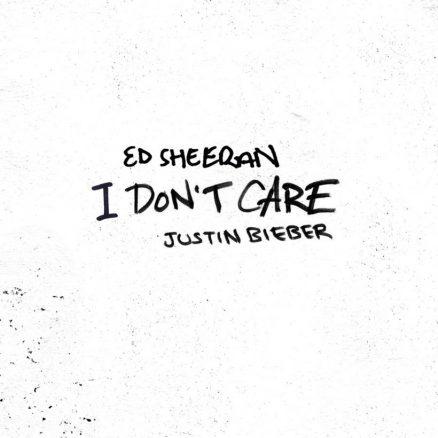 Justin Bieber Featuring Ed Sheeran I Don't Care single artwork