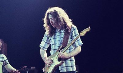 Rory Gallagher performing live