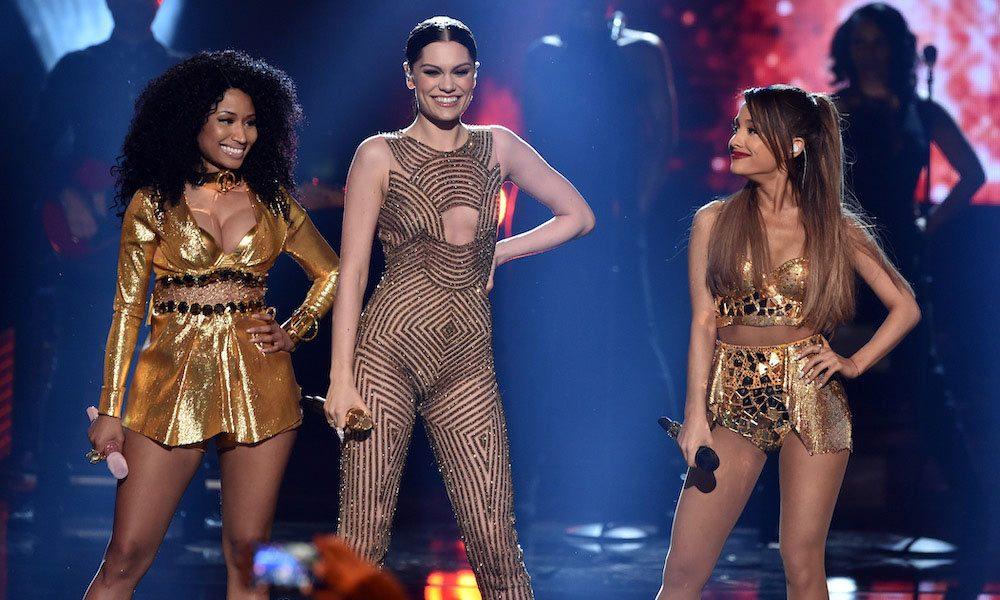 Jessie-J--Ariana-Grande-And-Nicki-Minaj----Bang-Bang---GettyImages-459489604