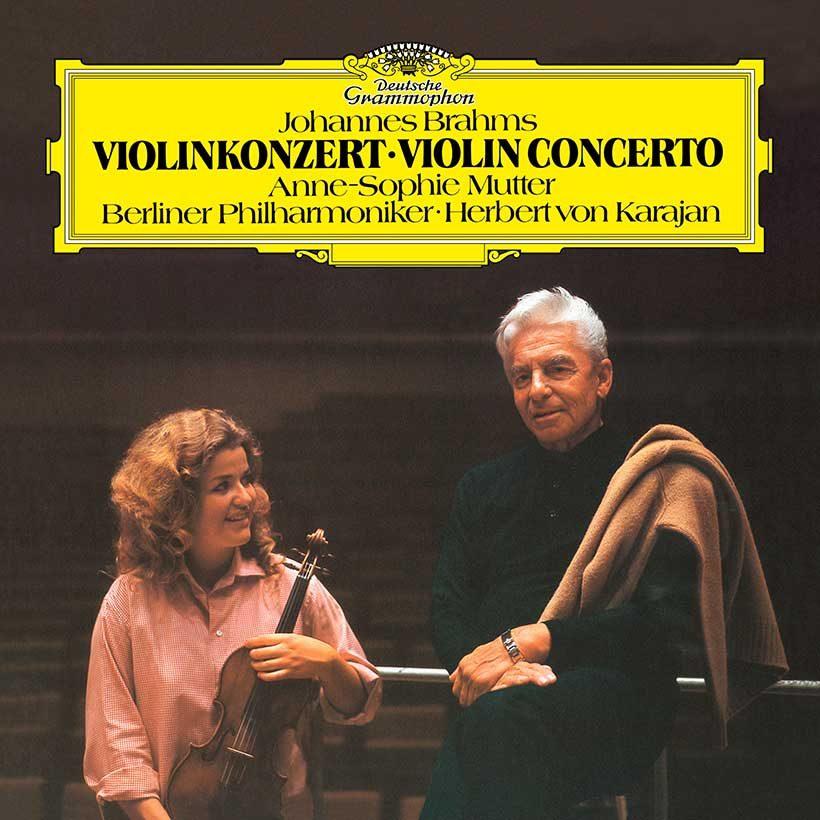 Karajan Brahms Violin Concerto vinyl cover