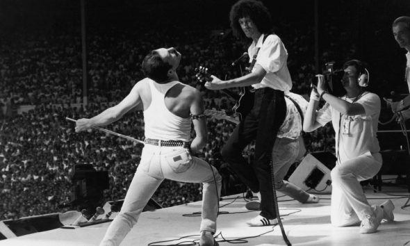 Queen performing at Live Aid