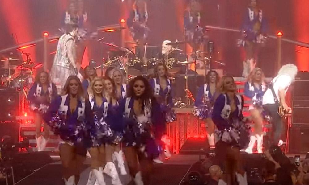 Queen Adam Lambert Live Dallas Cowboys Cheerleaders