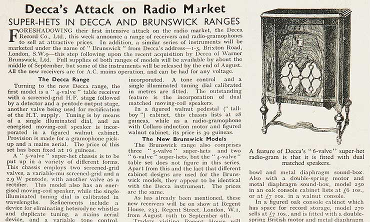 Decca The Wireless And Gramophone Trader detail 740