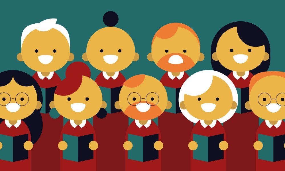 Beethoven's Choral symphony No 9 - choir image