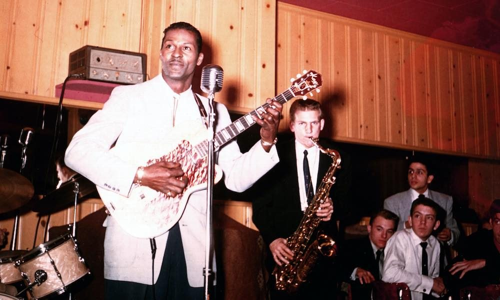 Chuck Berry 1956 GettyImages 74254392