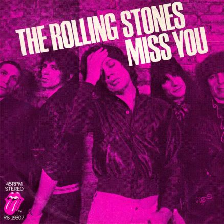 The Rolling Stones Miss You Single Art
