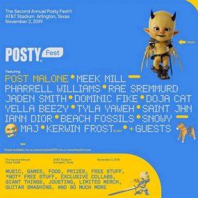Meek Mill Post Malone Posty Fest 2019 Line-up