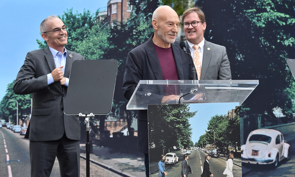 Sir Patrick Stewart Abbey Road Crosswalk Hollywood